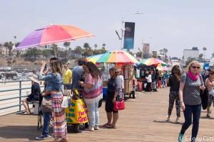 Vendors on Santa Monica Pier