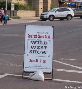 Wild West Shw sign