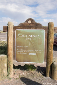 Continental Divide Sign
