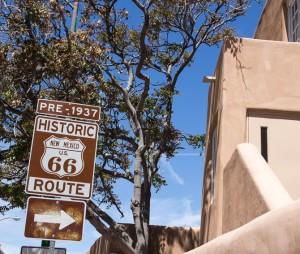 Route 66 through Santa Fe